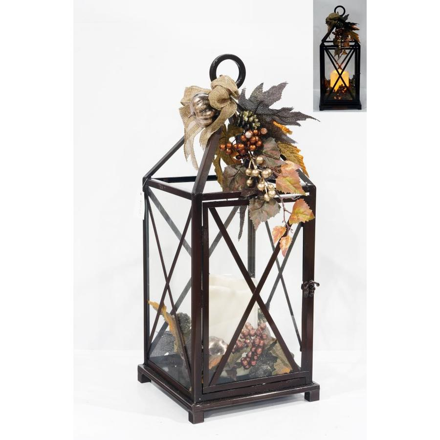 Holiday 9.75-in x 23.25-in Multiple Metal Led Light Outdoor Decorative Lantern