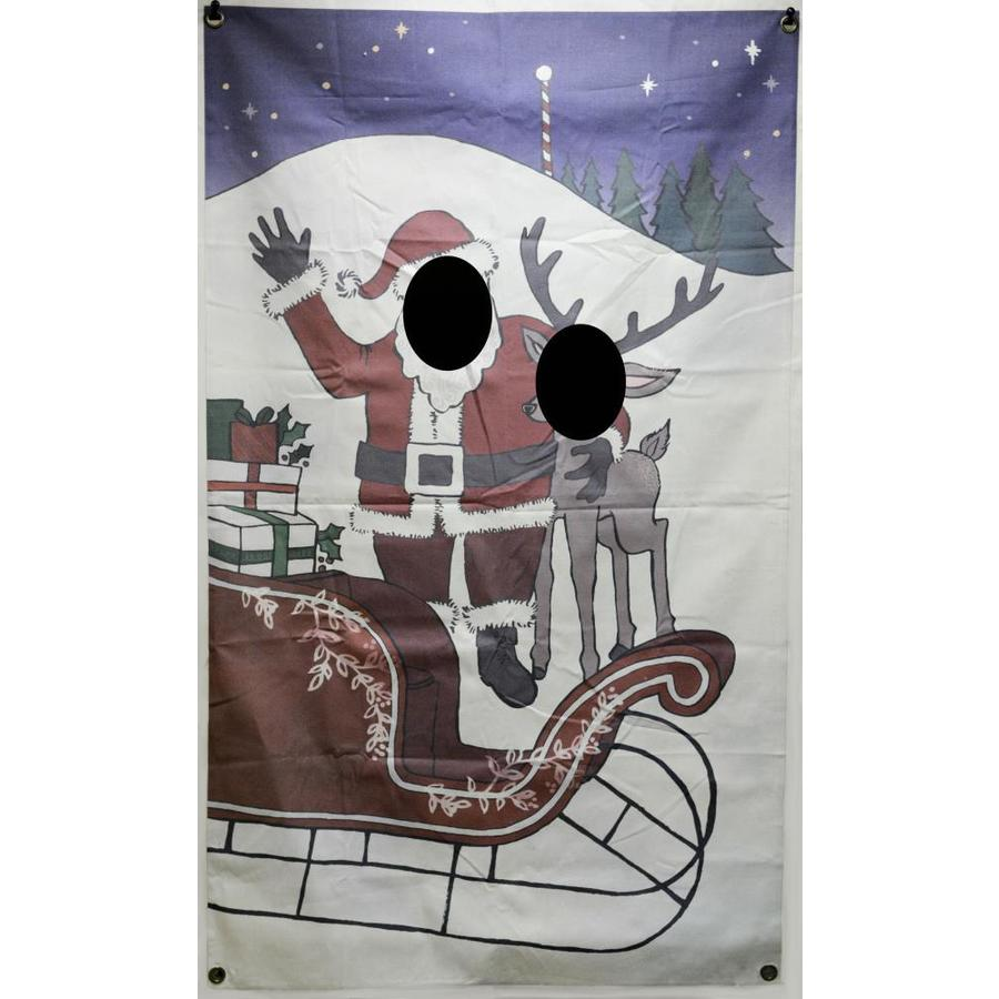 Holiday 6.1-ft W x 6.1-ft H Christmas Ohio State State Banner