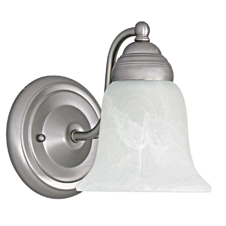 Century 6-in W 1-Light Matte Nickel Arm Hardwired Wall Sconce