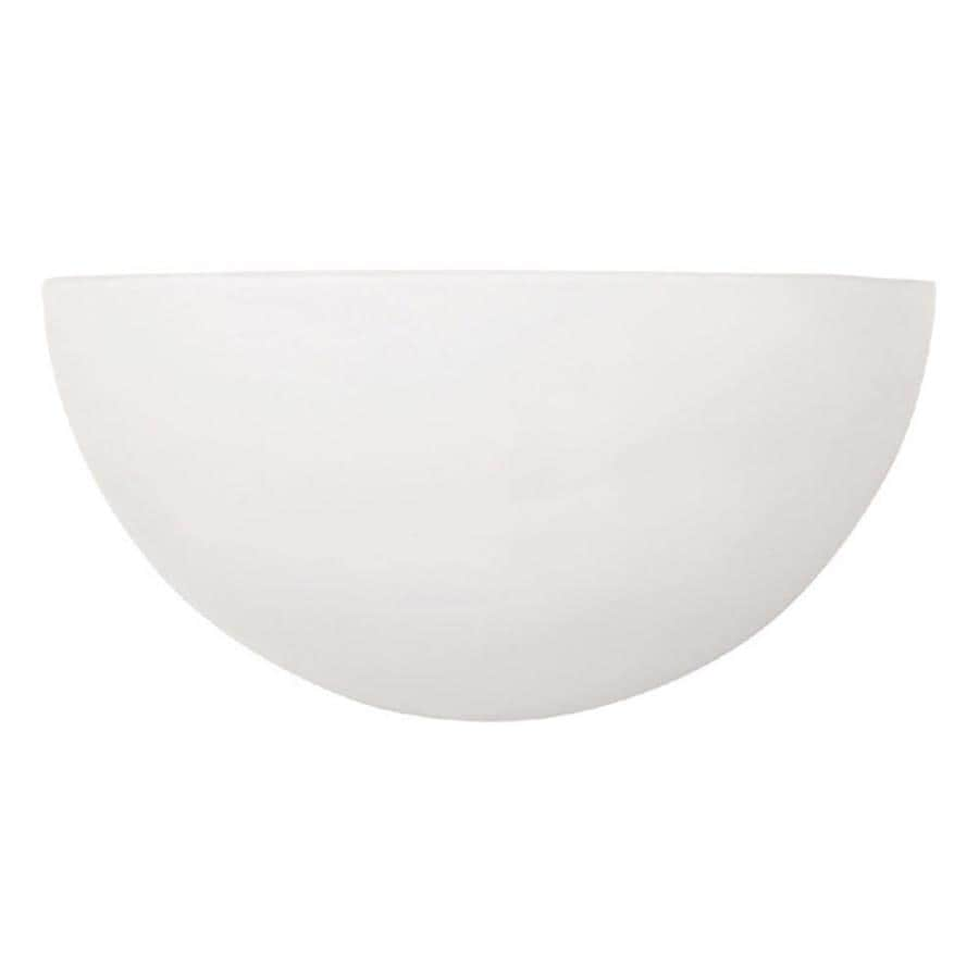 10-in W 1-Light Matte White Pocket Wall Sconce