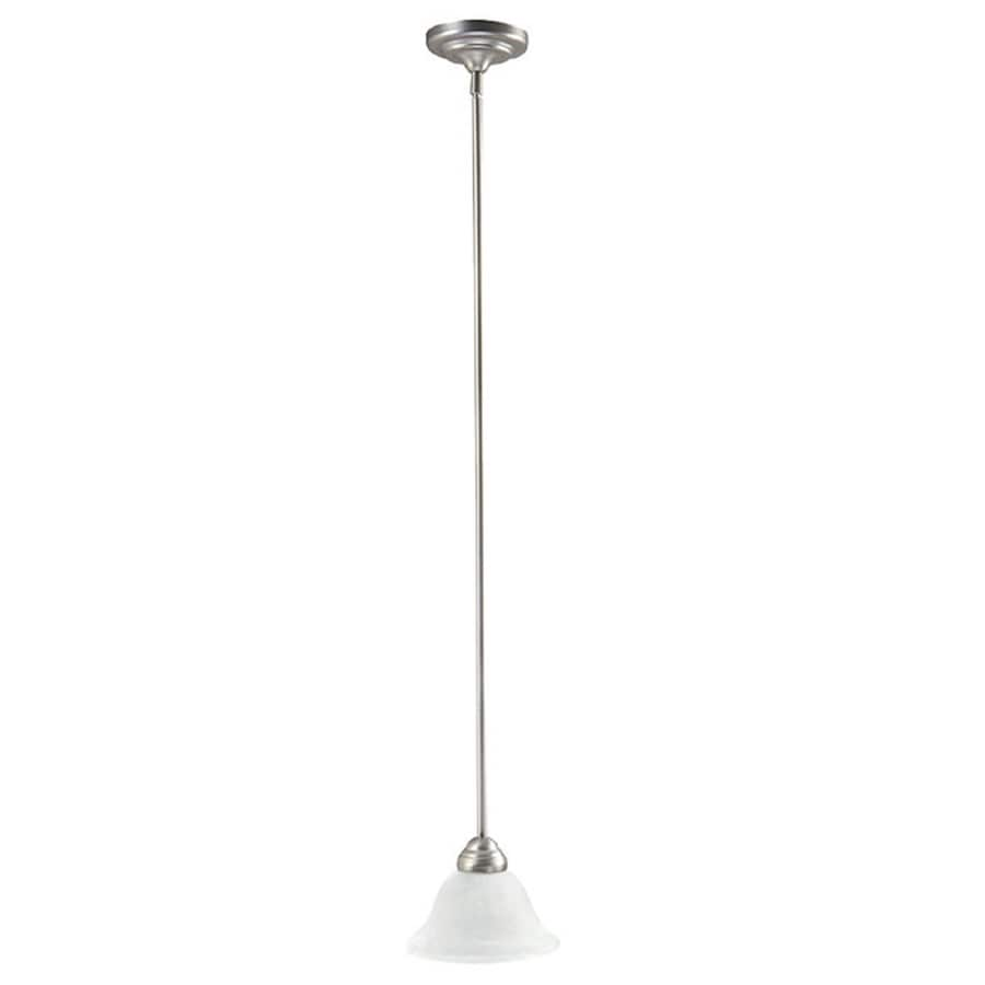 Century 10-in Matte Nickel Single Pendant