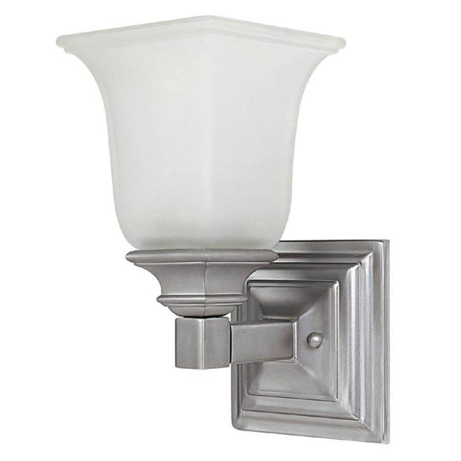 Century 5-in W 1-Light Matte Nickel Pocket Wall Sconce