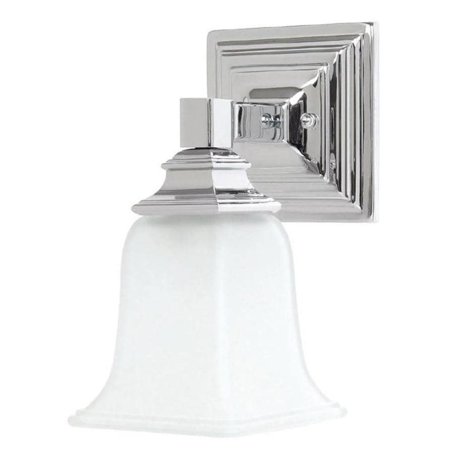 5-in W 1-Light Chrome Arm Hardwired Wall Sconce