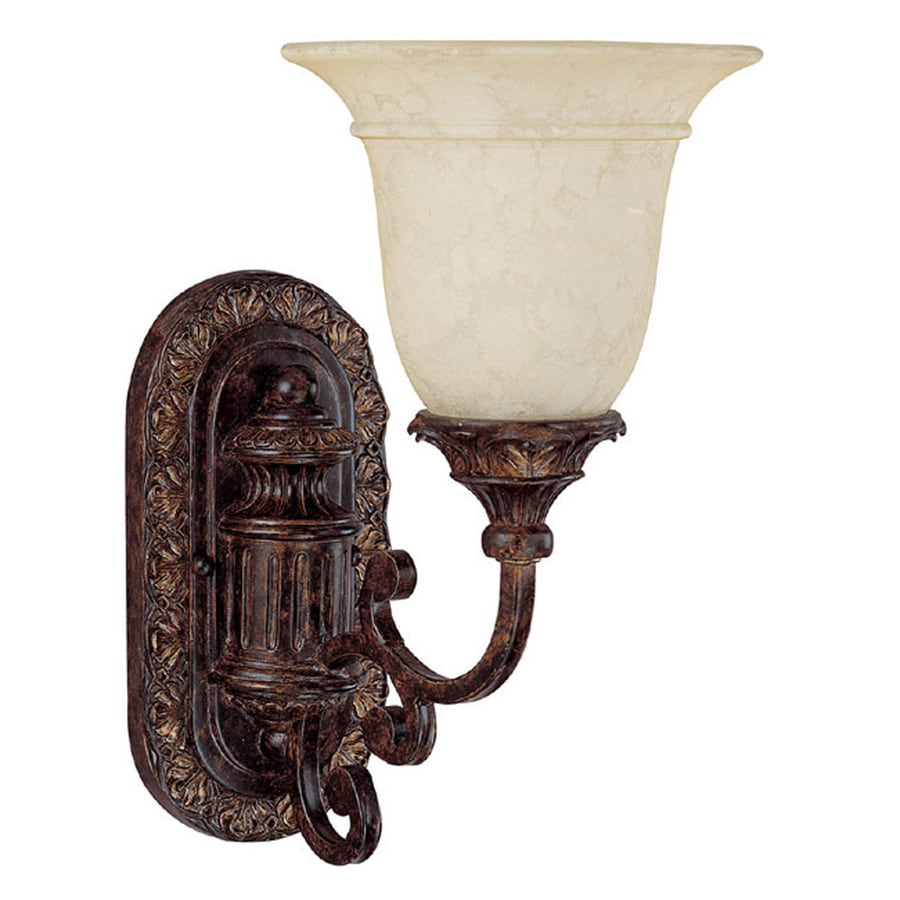 Century 6.5-in W 1-Light Chesterfield Brown Arm Wall Sconce