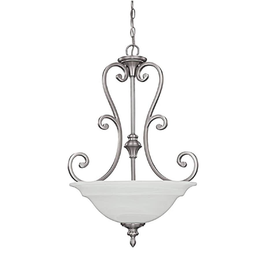 Century 20-in Matte Nickel Single Pendant