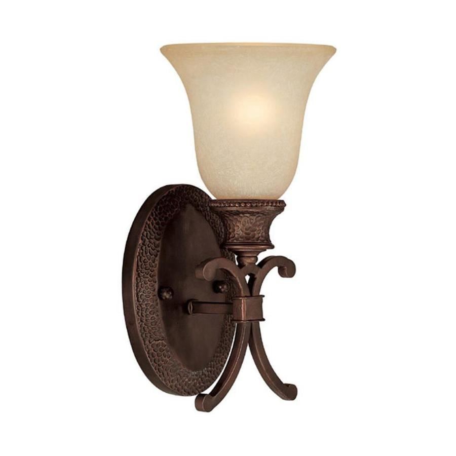 Century 6-in W 1-Light Burnished Bronze Arm Wall Sconce