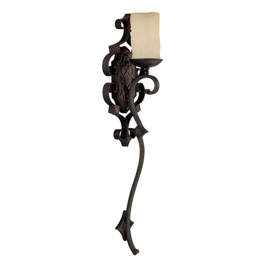 Rustic Wall Sconces Lowes : Shop Century 9-in W 1-Light Rustic Iron Arm Wall Sconce at Lowes.com