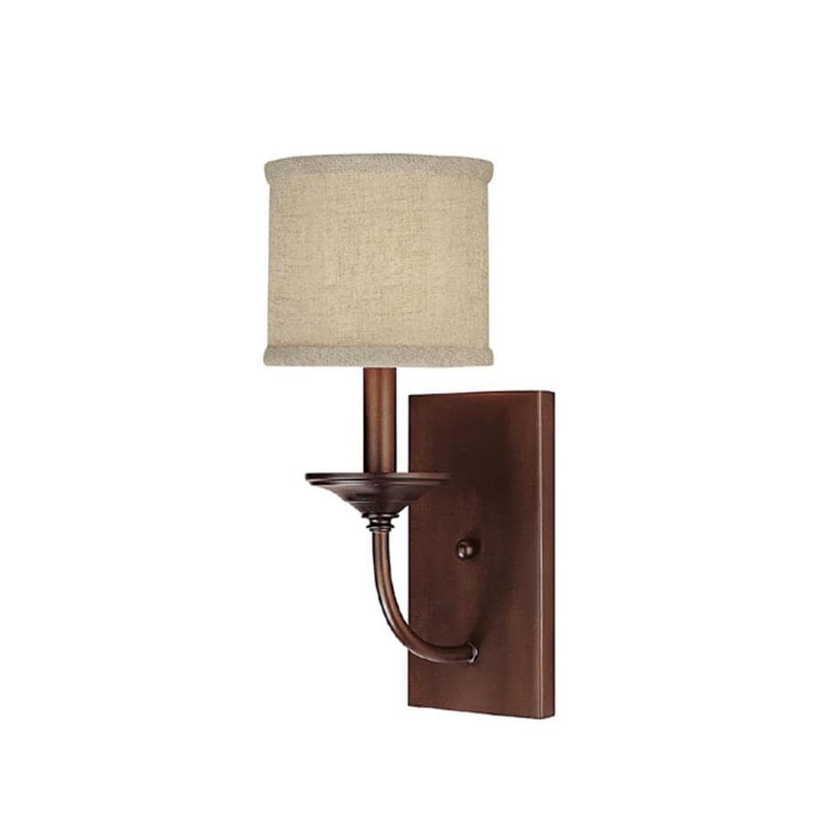 Century 6.5-in W 1-Light Burnished Bronze Arm Wall Sconce