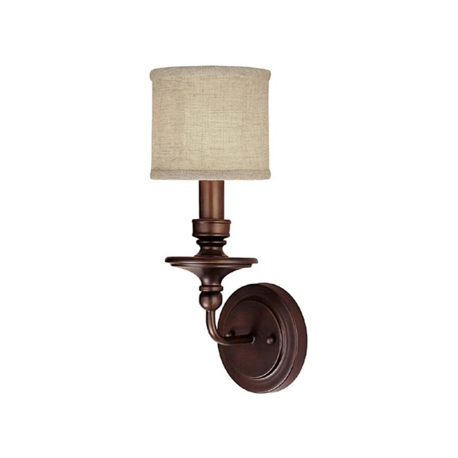 Century 6-in W 1-Light Burnished Bronze Pocket Wall Sconce