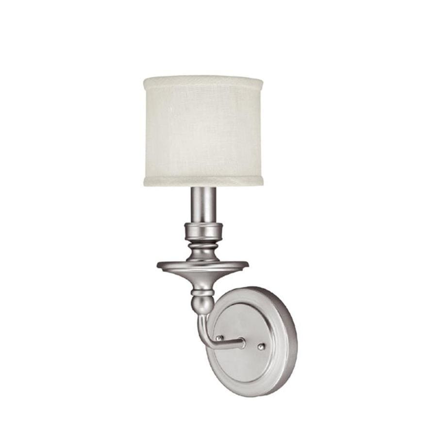 Century 6-in W 1-Light Matte nickel Pocket Wall Sconce