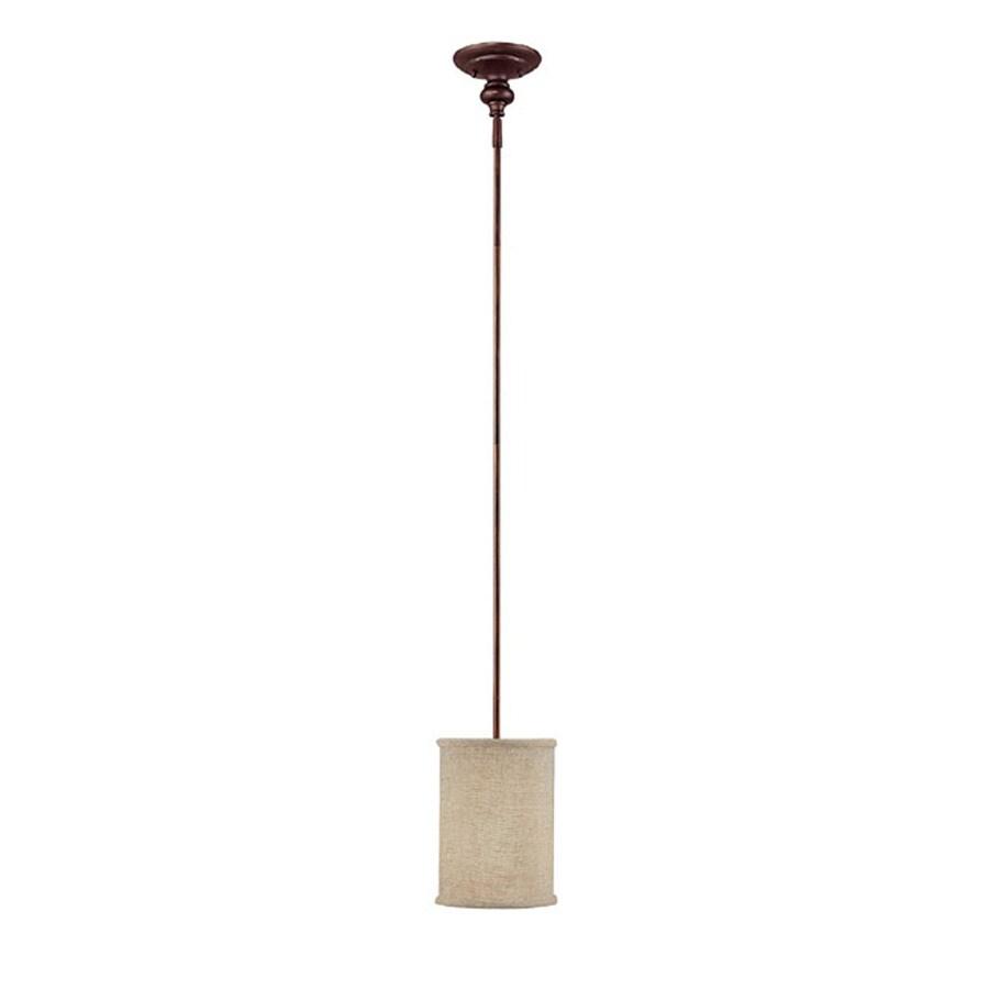 Century 7.25-in Burnished Bronze Single Pendant