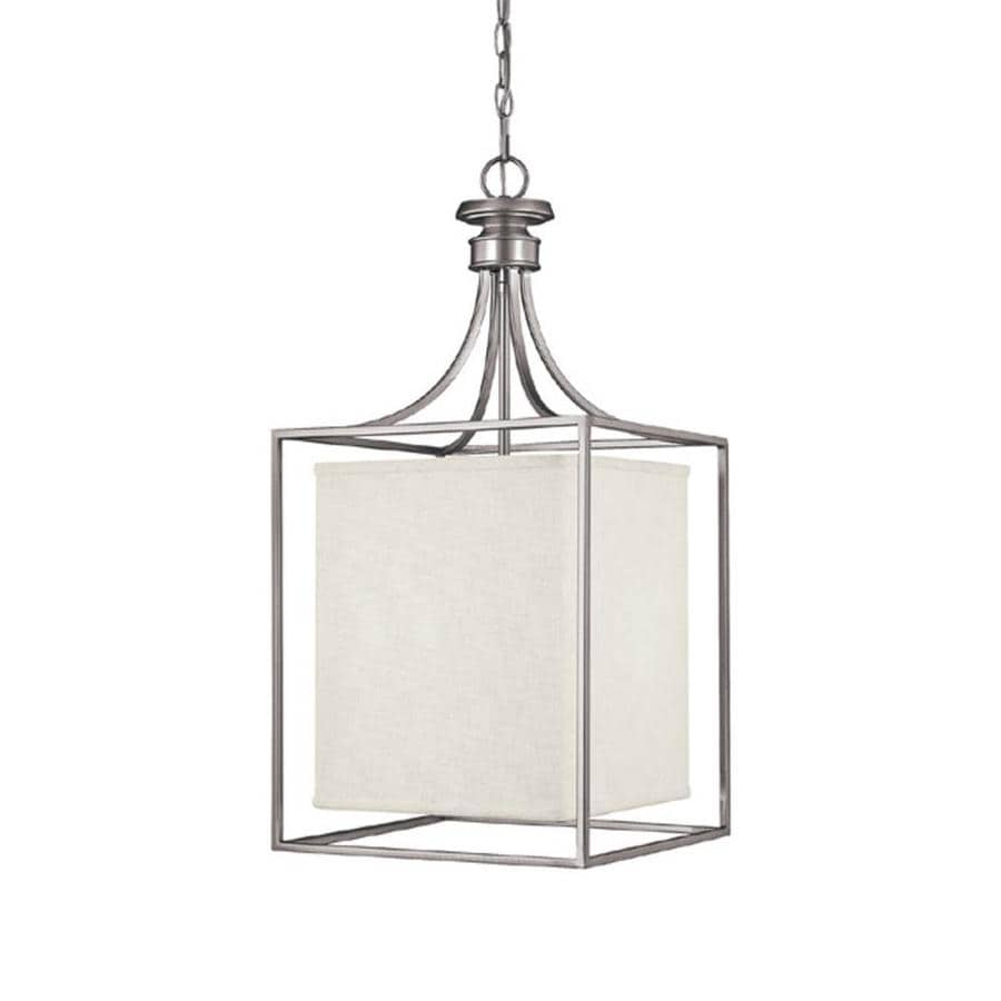 Century 14-in Matte Nickel Single Pendant