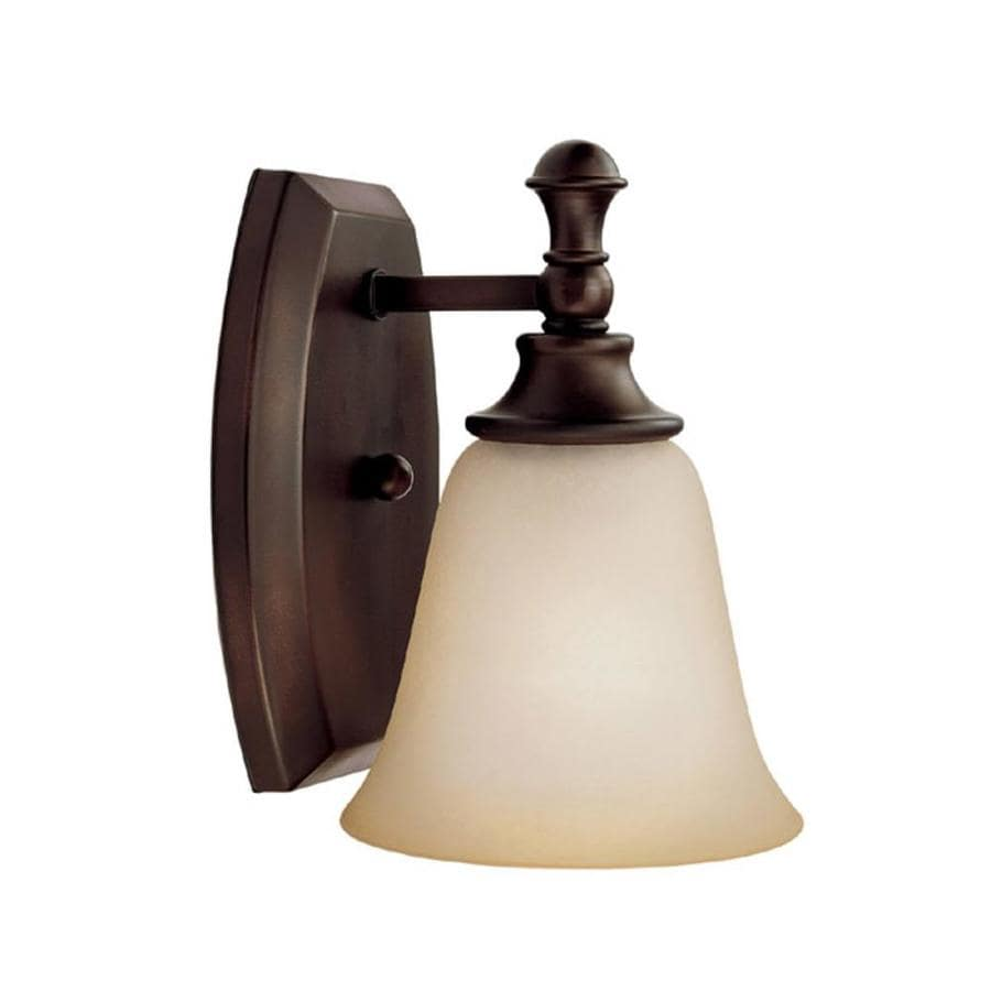 Century 6-in W 1-Light Burnished Bronze Arm Hardwired Wall Sconce