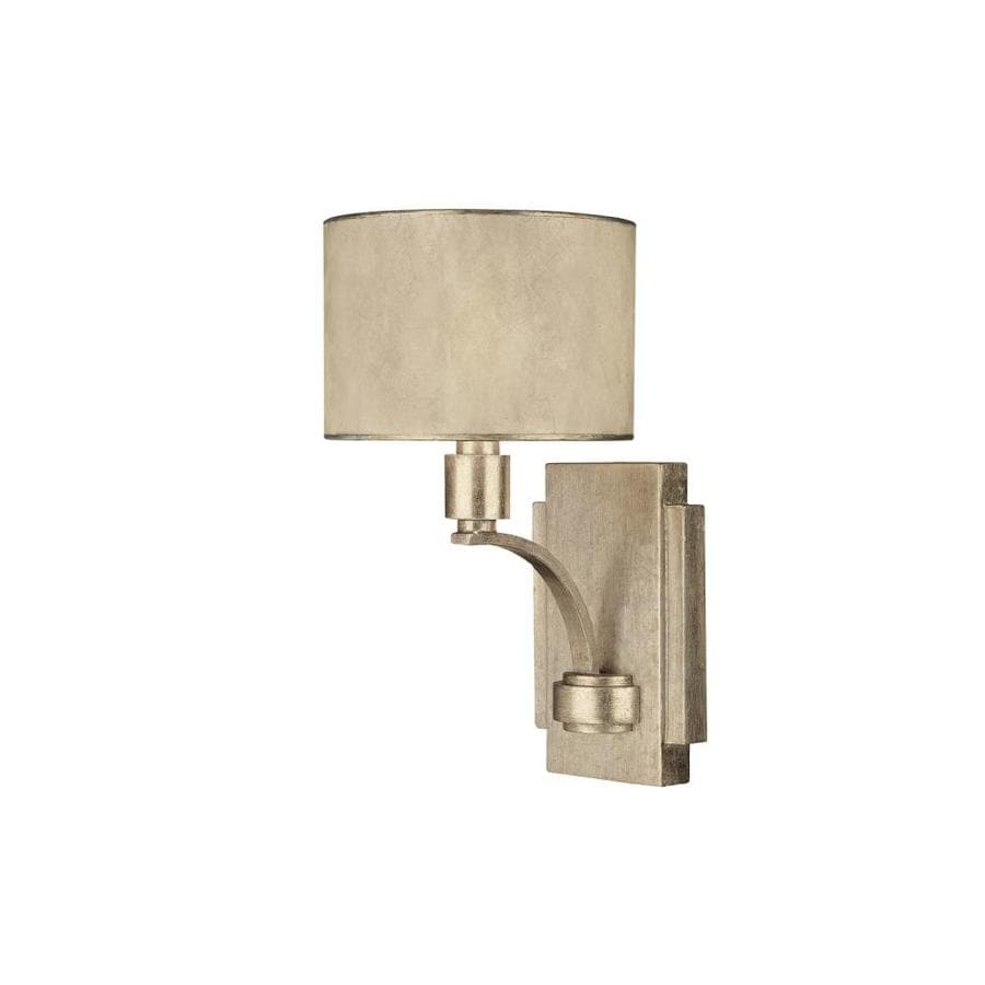 Century 7-in W 1-Light Winter Gold Arm Hardwired Wall Sconce