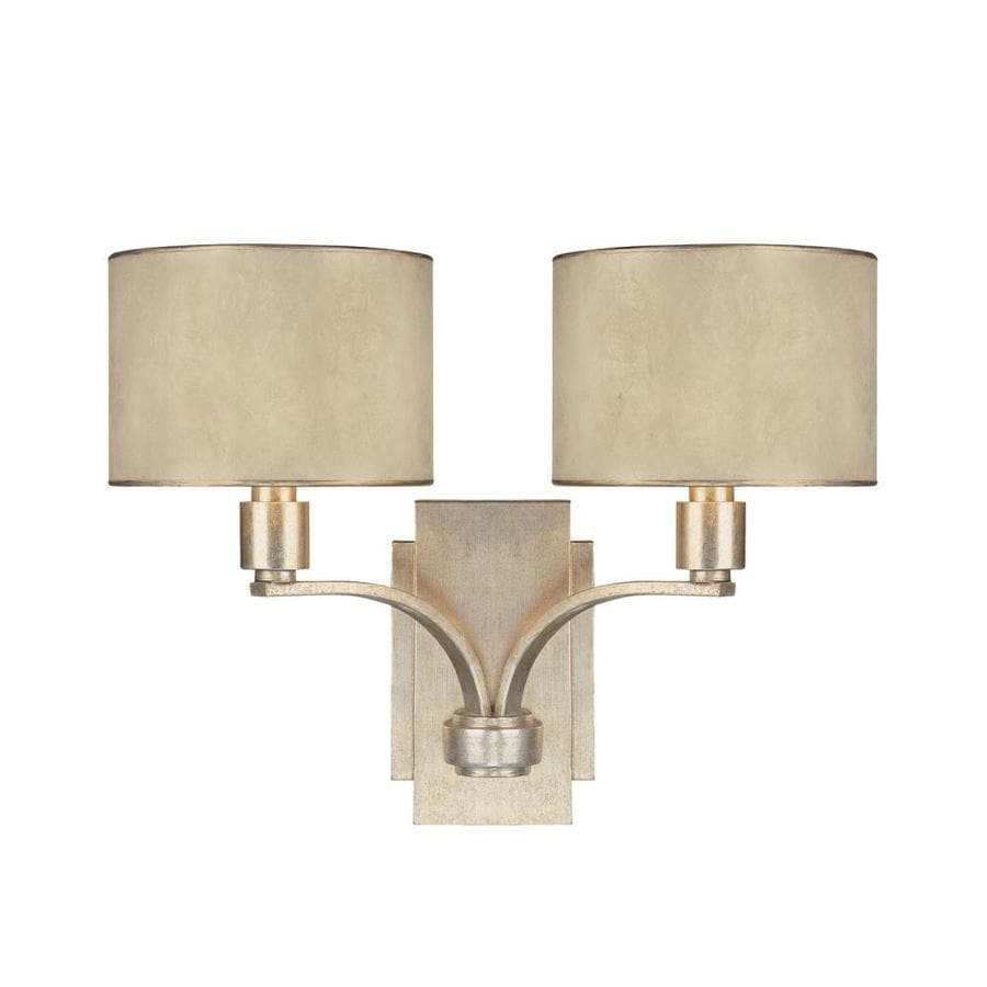 Century 17-in W 2-Light Winter Gold Arm Wall Sconce