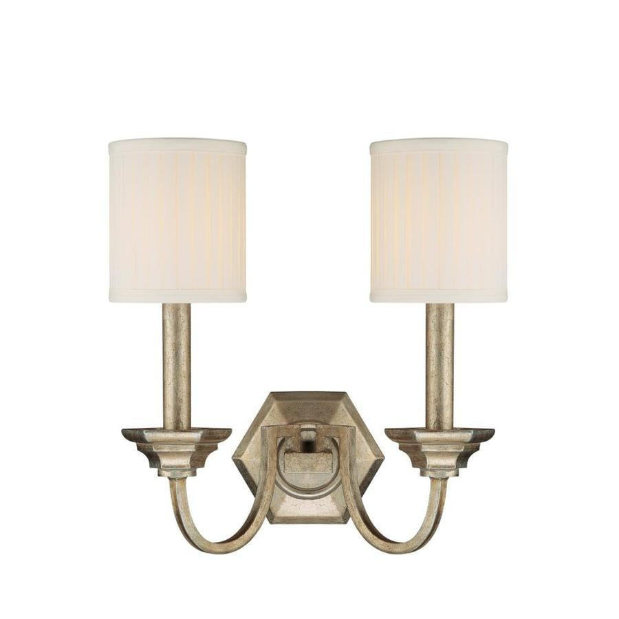 Century 14.5-in W 2-Light Winter Gold Arm Wall Sconce