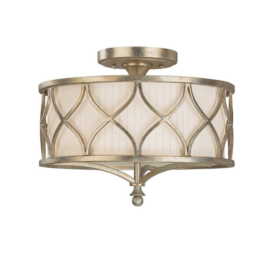 Century 15-in W Winter Gold Frosted Glass Semi-Flush Mount Light
