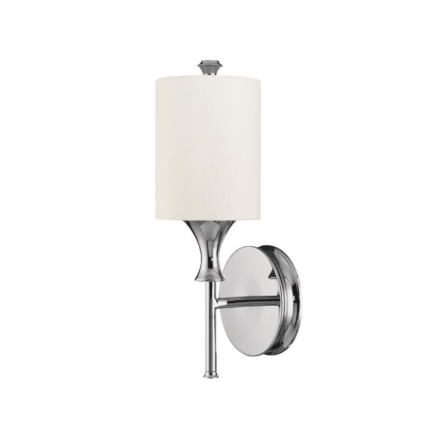 Wall Sconces Location : Shop Century 5-in W 1-Light Polished Nickel Pocket Wall Sconce at Lowes.com