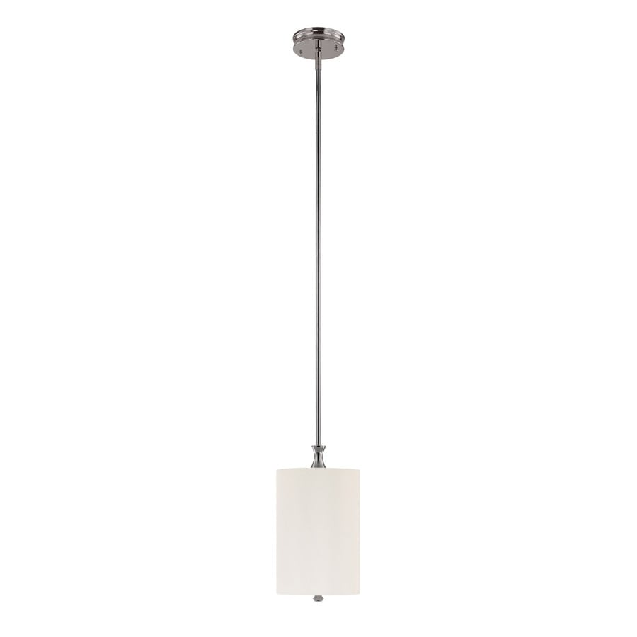 Century 8-in Polished Nickel Single Pendant