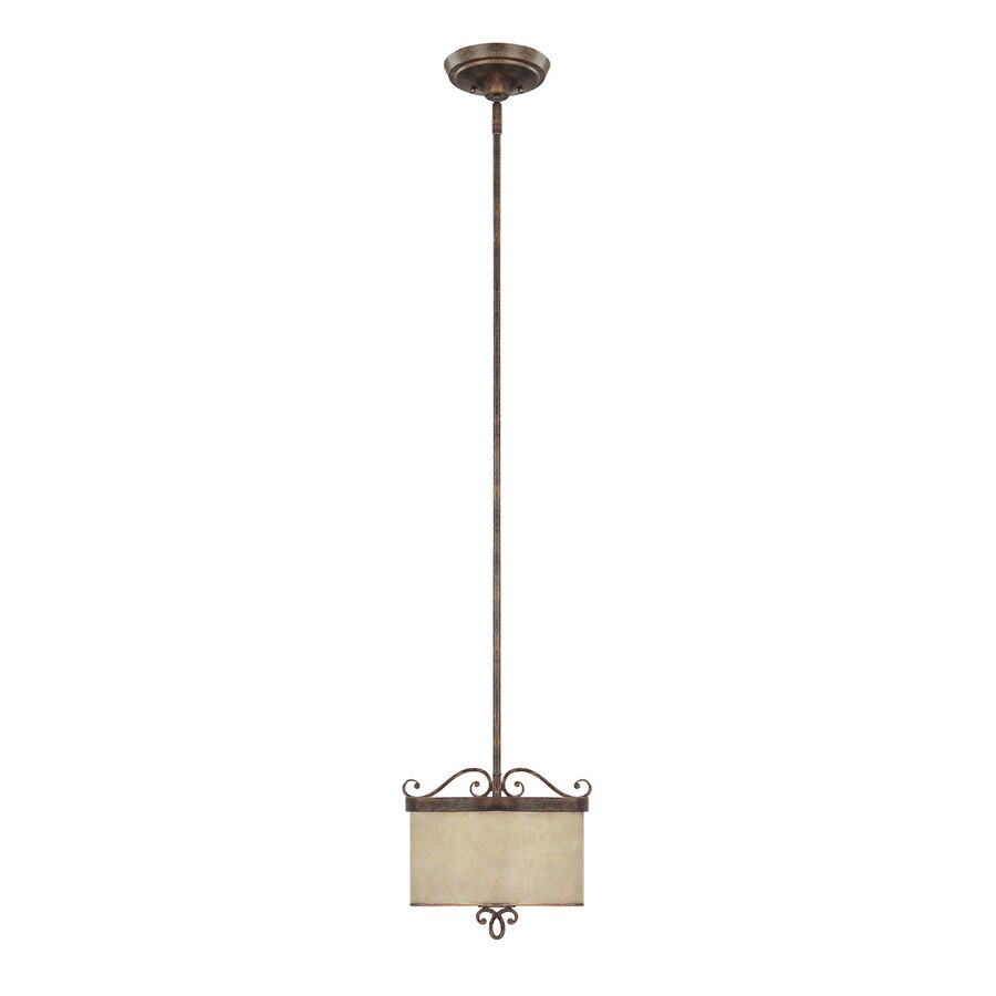 Shop Century Rustic Single Textured Glass Pendant At