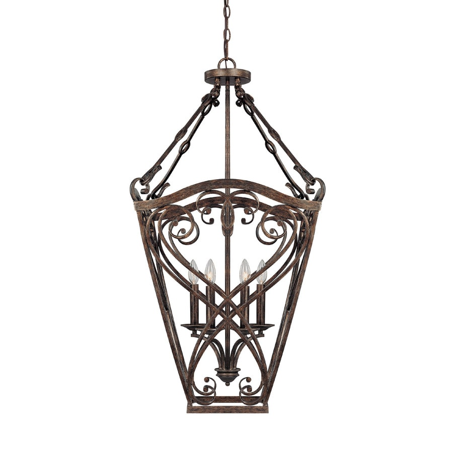 Century 20-in Rustic Single Tinted Glass Pendant
