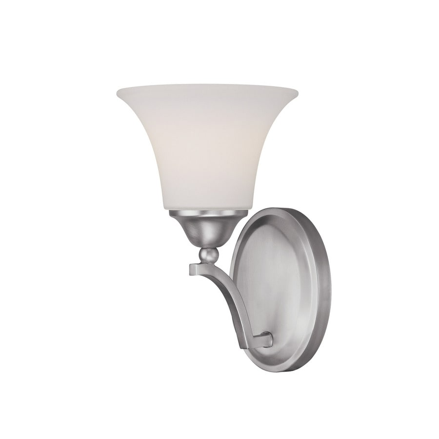 Century 7-in W 1-Light Matte Nickel Arm Hardwired Wall Sconce