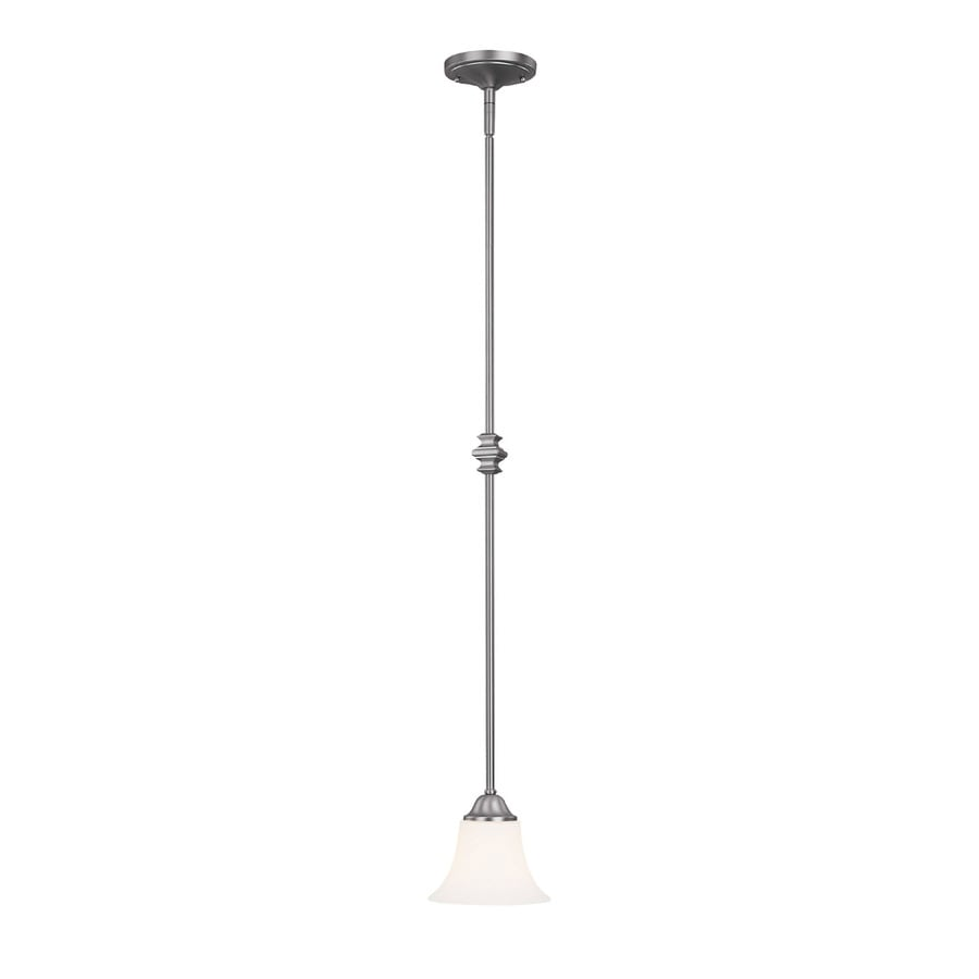 Century 7-in Matte Nickel Single Pendant