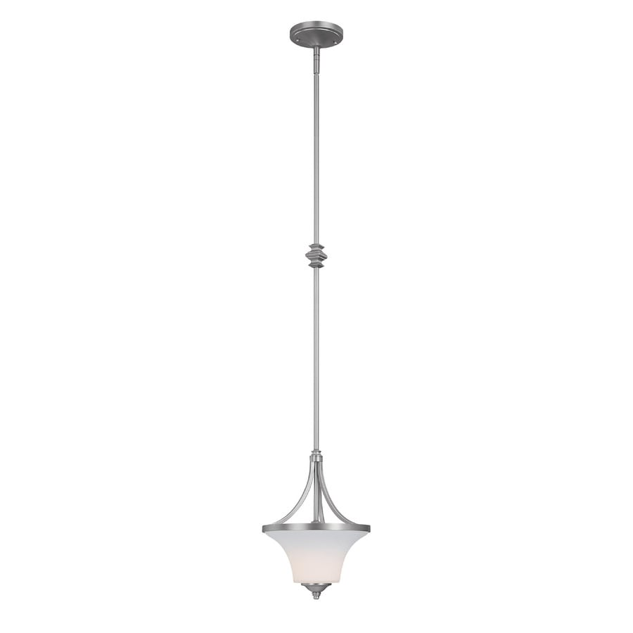 Century 10.5-in Matte Nickel Single Pendant