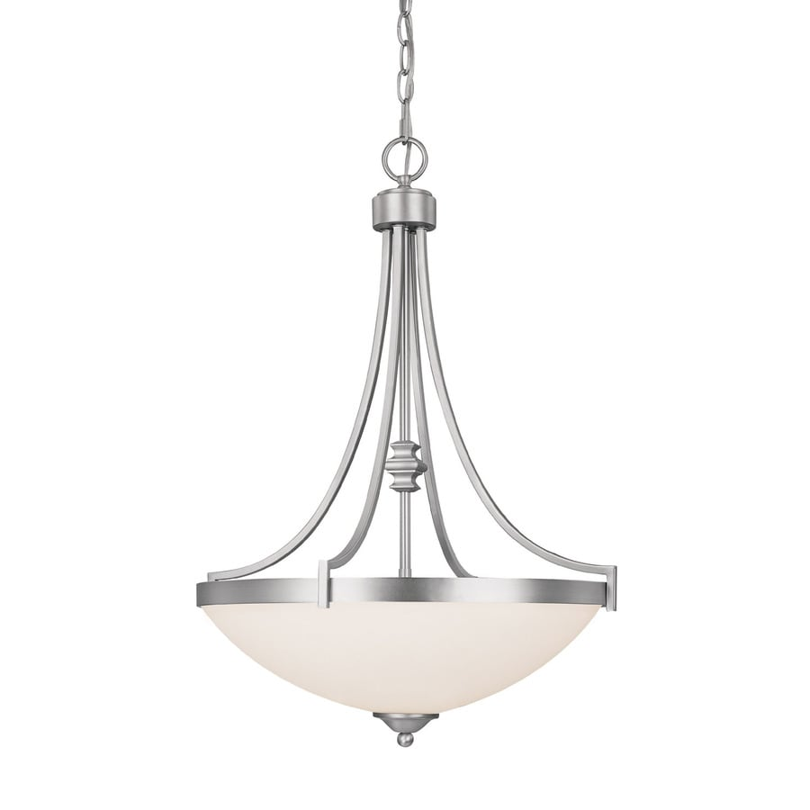 Century 19.25-in Matte Nickel Single Pendant