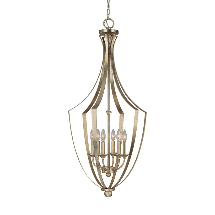 Century 19-in Winter Gold Single Clear Glass Pendant