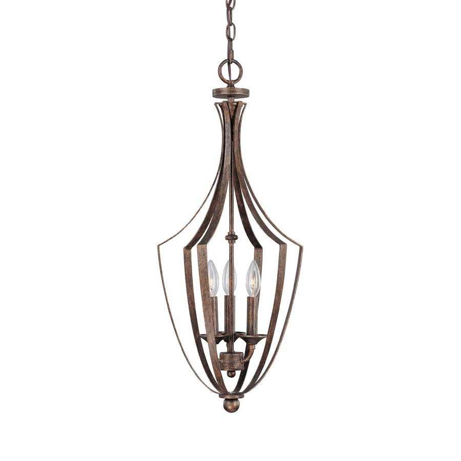 Century 12.5-in Rustic Single Clear Glass Pendant