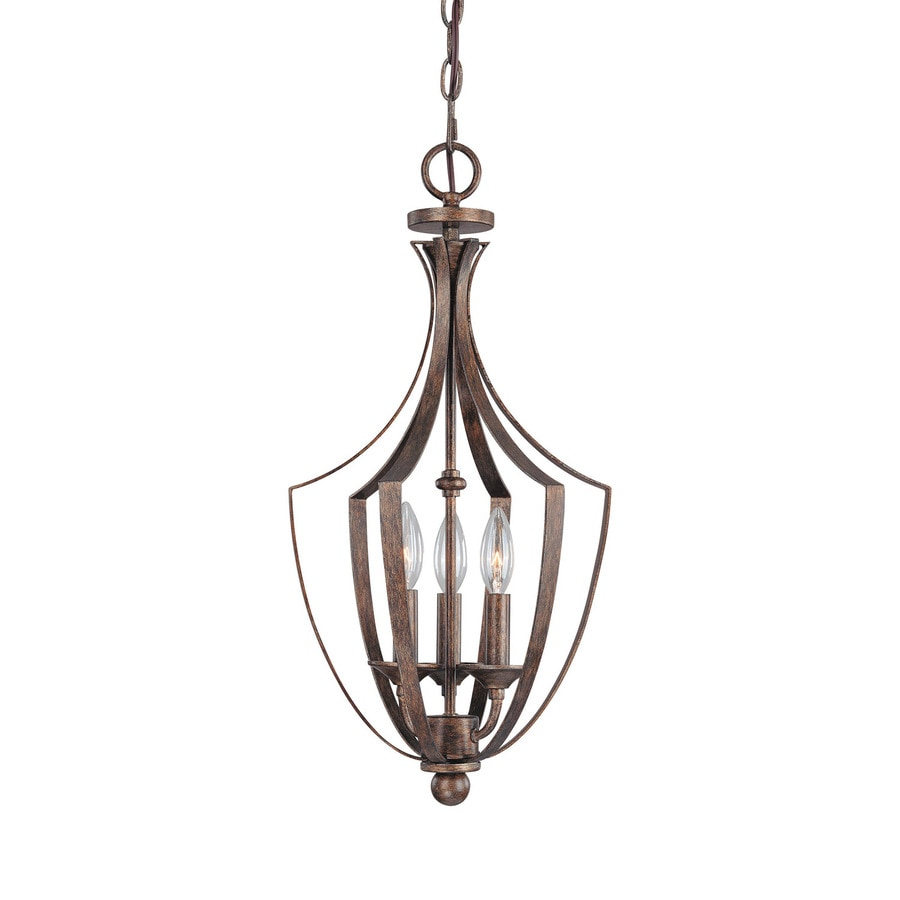 Century 11-in Rustic Single Clear Glass Pendant
