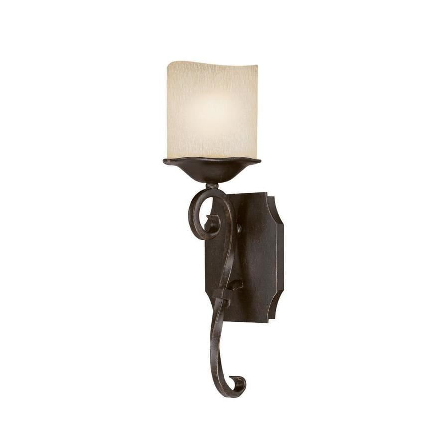 Century 5-in W 1-Light Raw Umber Pocket Wall Sconce