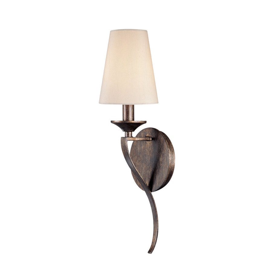 Century 5-in W 1-Light Rustic Arm Hardwired Wall Sconce