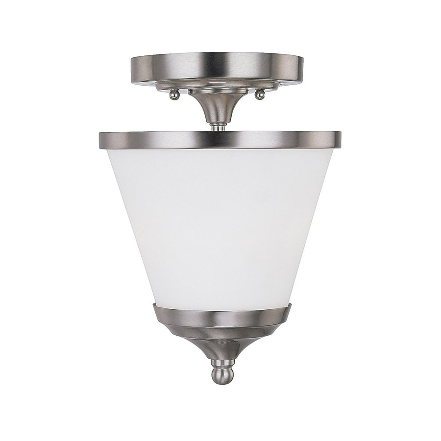 Century 7.25-in Brushed Nickel Single Pendant