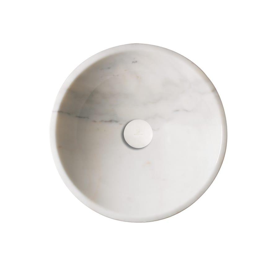 DECOLAV Stone White Marble Vessel Sink