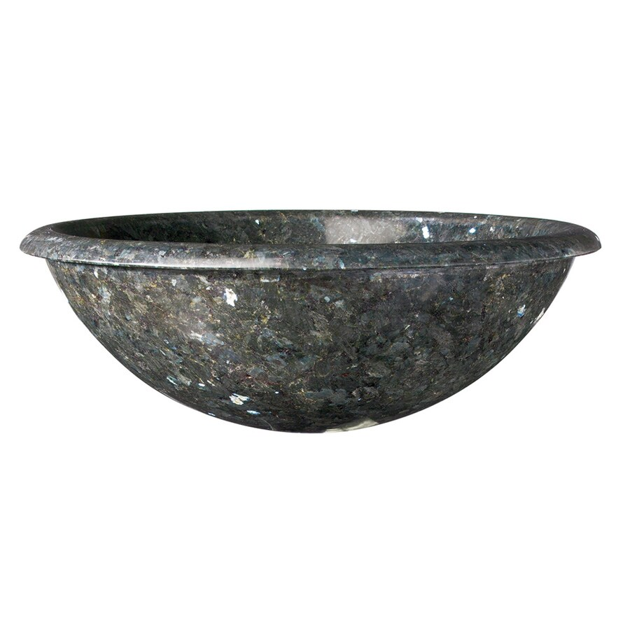 Round Granite Sink : DECOLAV A Perfect Chisel Blue Pearl Granite Vessel Round Bathroom Sink