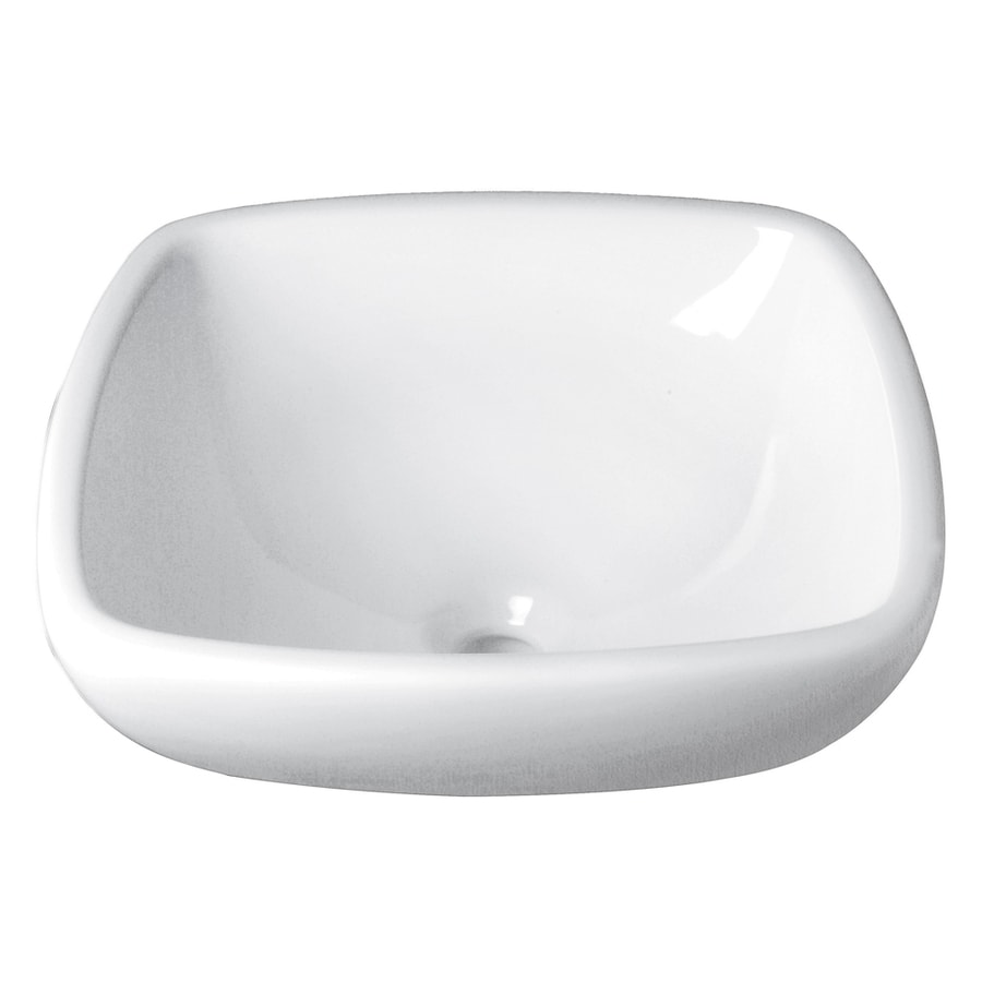 Decolav Classically Redefined White Vessel Square Bathroom