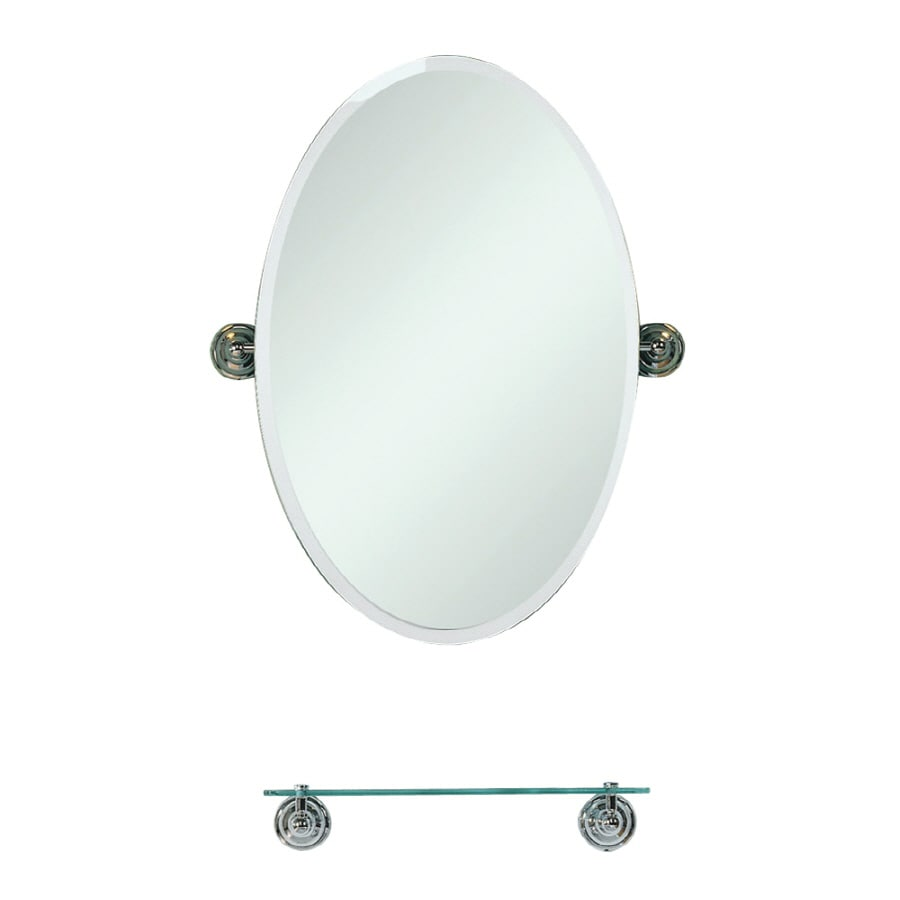 Shop decolav 22 1 2 countryside polished chrome oval bath Polished chrome bathroom mirrors