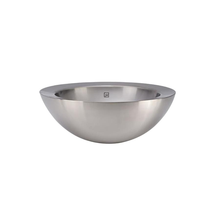 DECOLAV Simply Stainless Polished Stainless Steel Vessel Round Bathroom Sink with Overflow