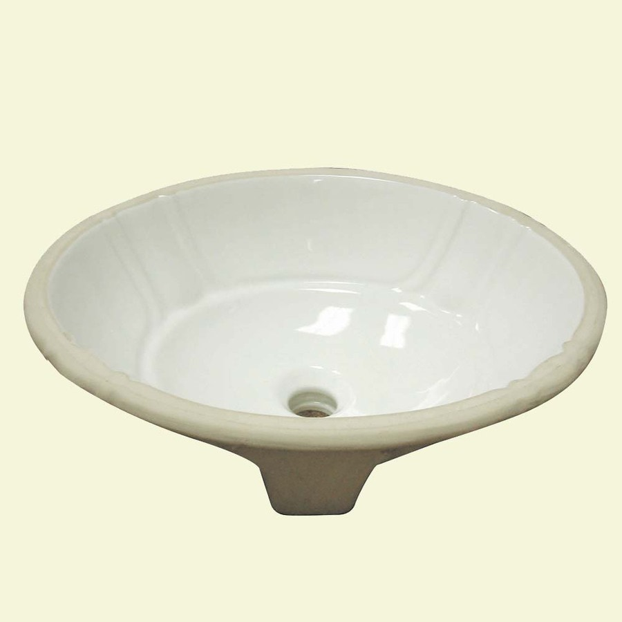 White Undermount Sink : ... Ceramic White Undermount Oval Bathroom Sink with Overflow at Lowes.com