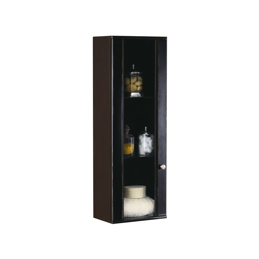 DECOLAV Bathroom Furniture 15-in W x 43.25-in H x 9.875-in D Espresso Bathroom Wall Cabinet