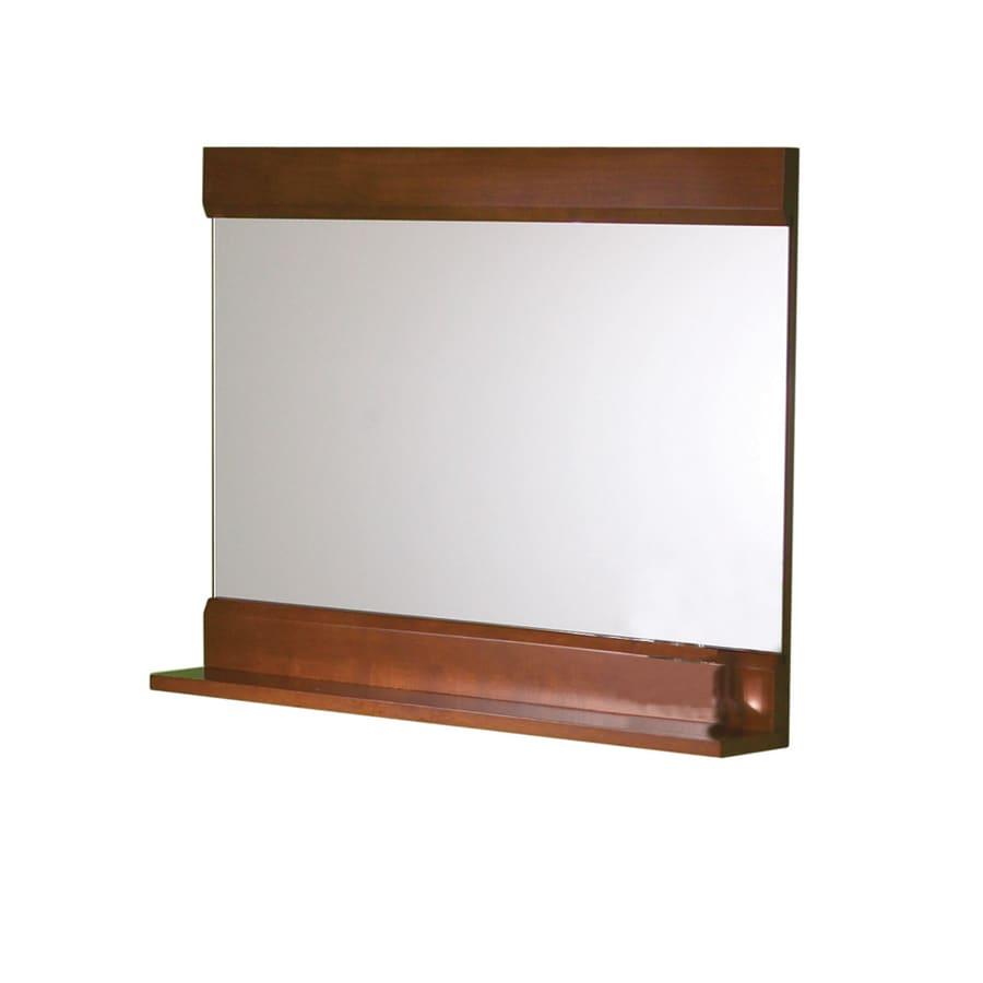 DECOLAV 24-1/8-in H x 32-3/4-in W Sag Harbour Cherry Rectangular Bath Mirror