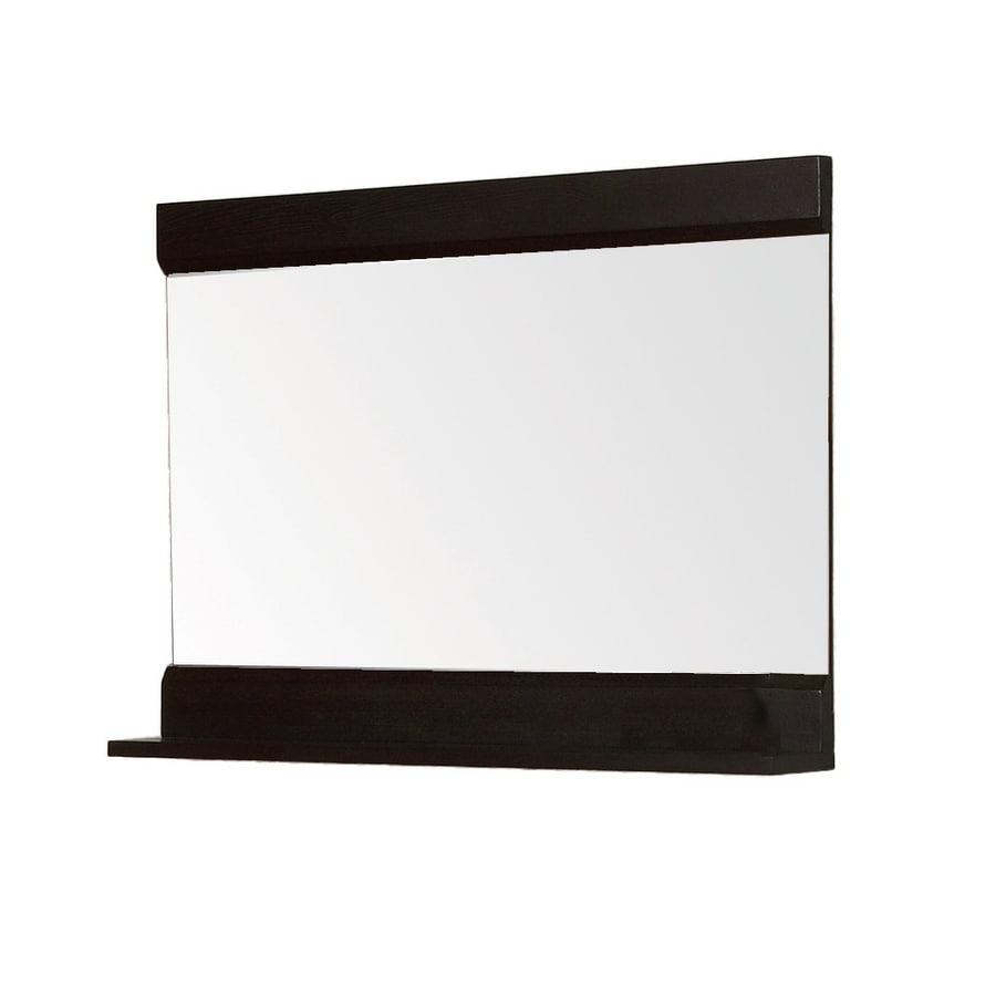 DECOLAV 24-1/8-in H x 32-3/4-in W Sag Harbour Espresso Rectangular Bath Mirror