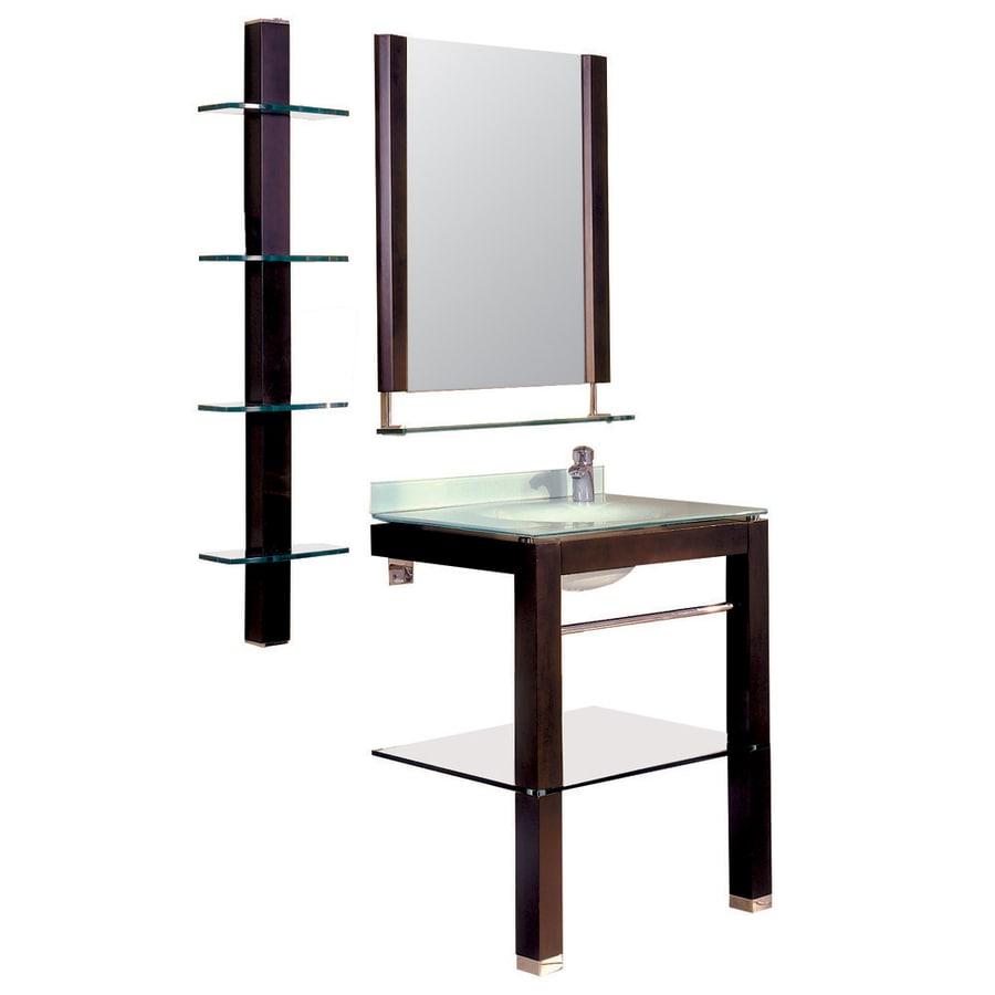 DECOLAV Bathroom Furniture 27.25-in W x 35.6-in H Espresso Square Bathroom Mirror