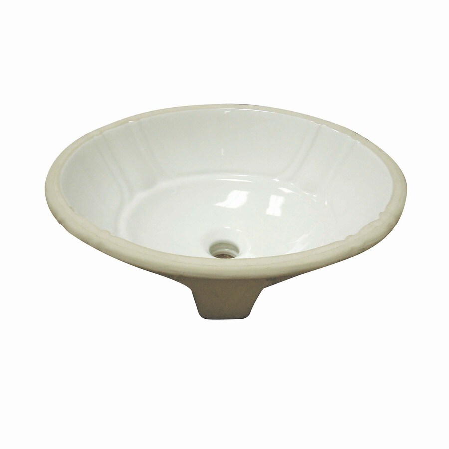 Shop DECOLAV Classically Redefined Ceramic Biscuit Undermount Oval Bathroom S
