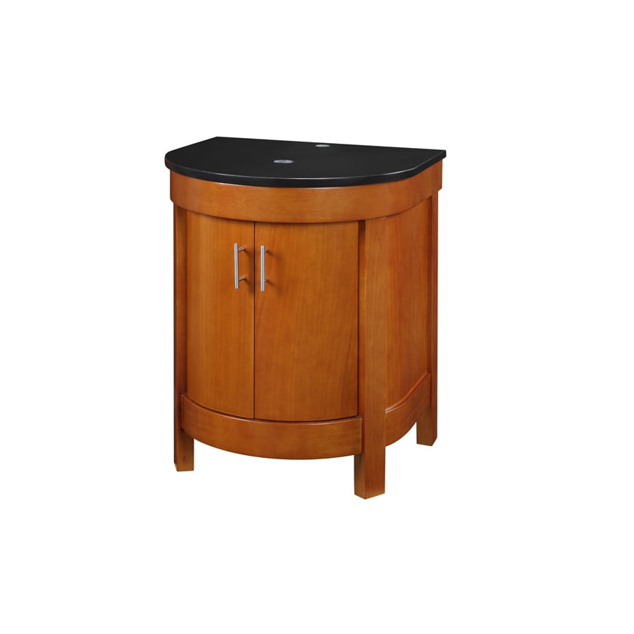 DECOLAV Haddington Cherry 24-in (No Sink) Birch Bathroom Vanity with Granite Top