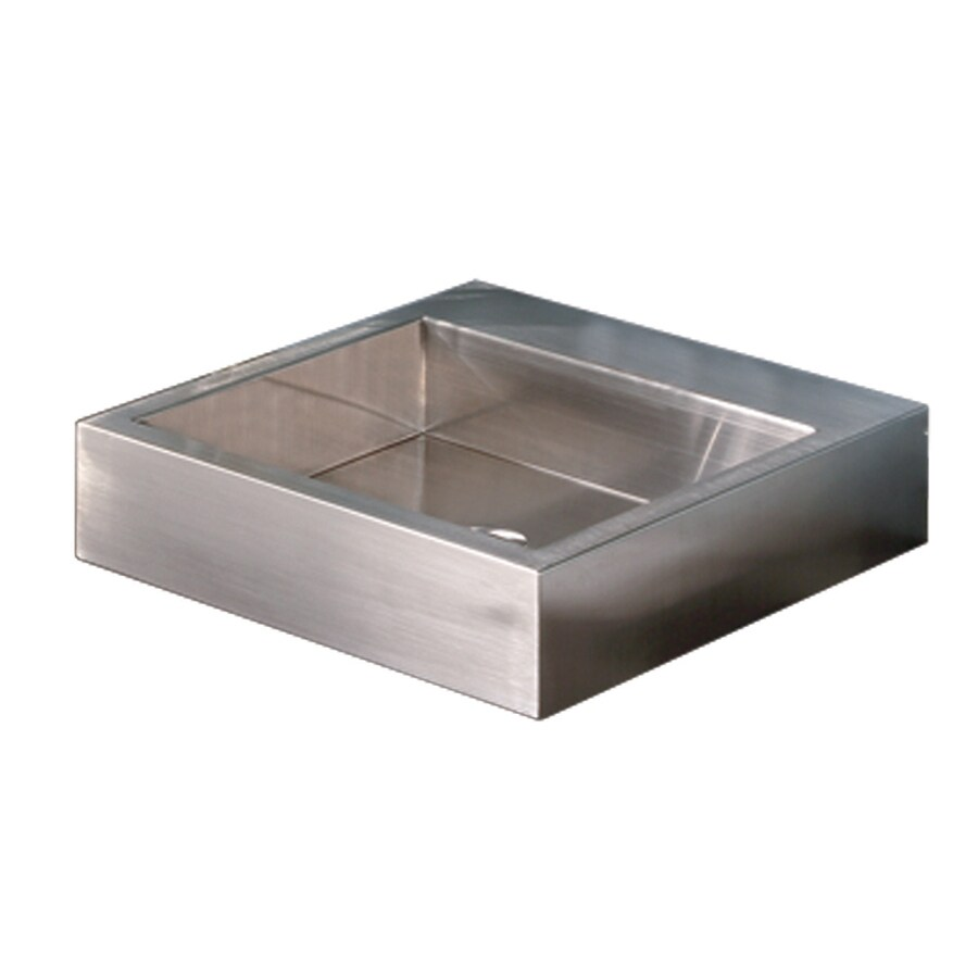 Decolav Simply Stainless Brushed Stainless Steel Vessel Rectangular Bathroom Sink