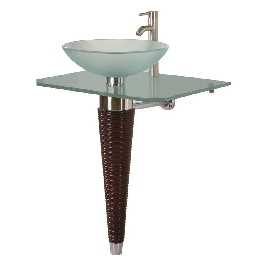 DECOLAV 28 1/4 In H Pedestals White Glass Pedestal Sink Base