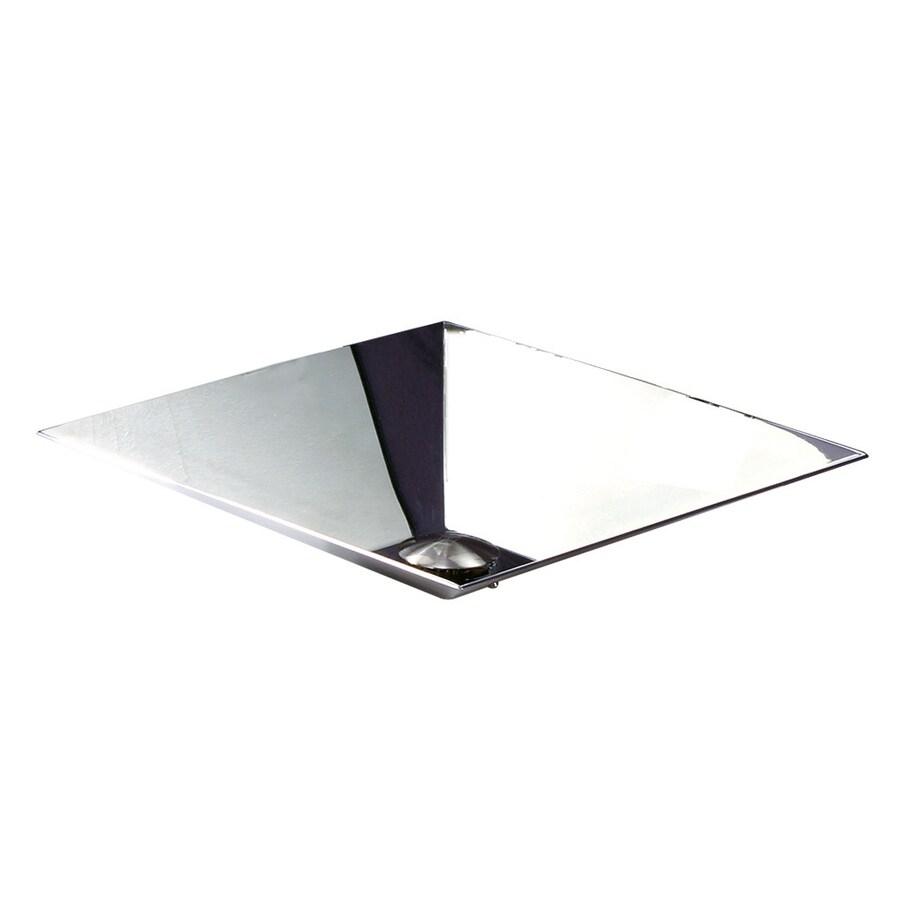 DECOLAV Simply Stainless Brushed Stainless Steel Vessel Square Bathroom Sink